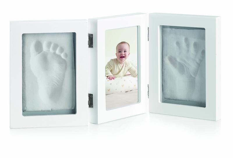 JANÉ Trojrámeček fotka + otisk ruky / nohy White