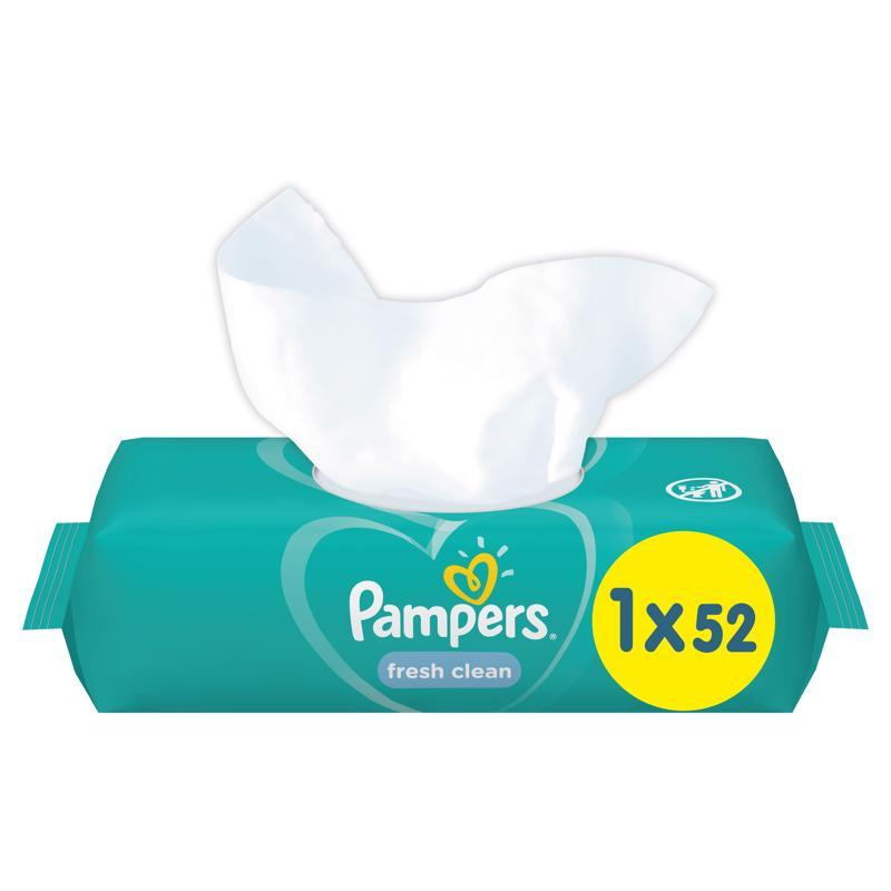 Ubrousky vlhčené Fresh Clean 52ks Pampers