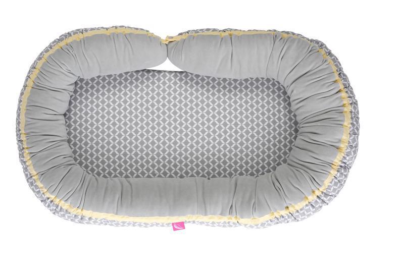 Hniezdo pre bábätko 2v1 Grey Classics 95x62cm