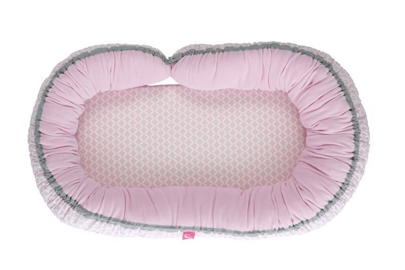 Hniezdo pre bábätko 2v1 Pink Classics 95x62cm