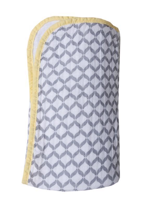 MOTHERHOOD Deka bavlnená mušelínová dvojvrstvová Pre-Washed Grey Classics 95x110cm
