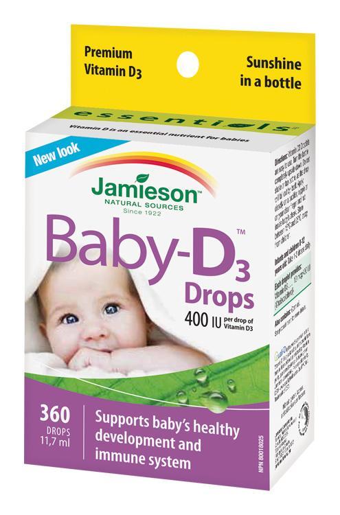 JAMIESON Baby-D™ Vitamín D3 400 IU kvapky 11,7 ml,  V001919