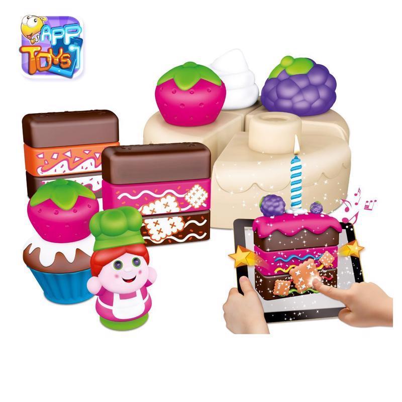 CHICCO Stavebnica App Toys 30ks - Koláčovo