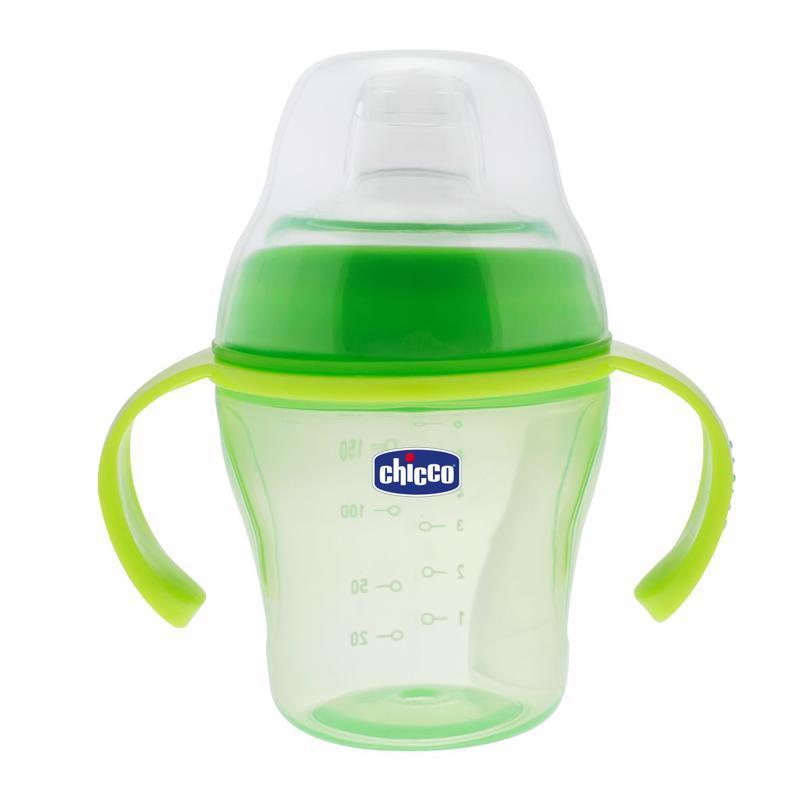 Fľaša učiaca s uškami Soft Cup, 6m+ - zelená