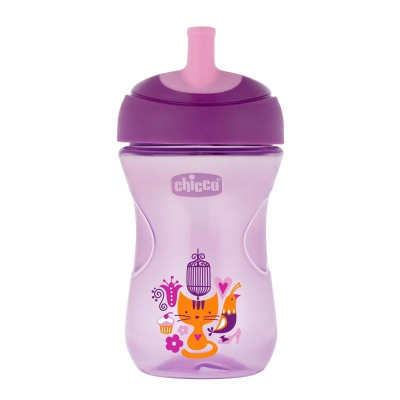 Hrnček Chicco Pokročilý so slamkovým náustkom 266 ml,  fialový 12m+,  fialová