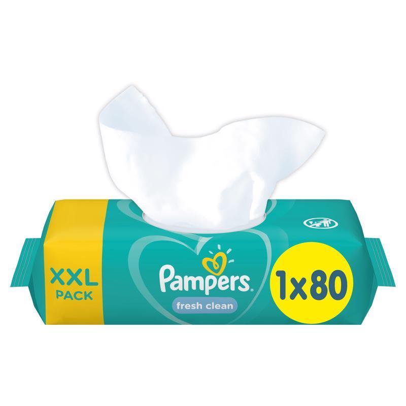 Obrúsky vlhčené XXL Fresh Clean 80ks Pampers