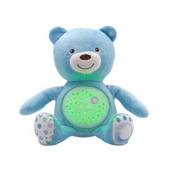 Hračka medvídek s projektorem - modrá 0m+