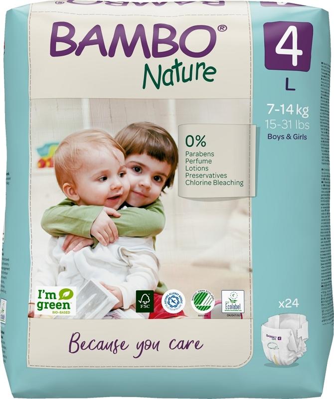 BAMBO Nature Plienky jednorázové 4, 24 ks, pre 7-14 kg,  V002733