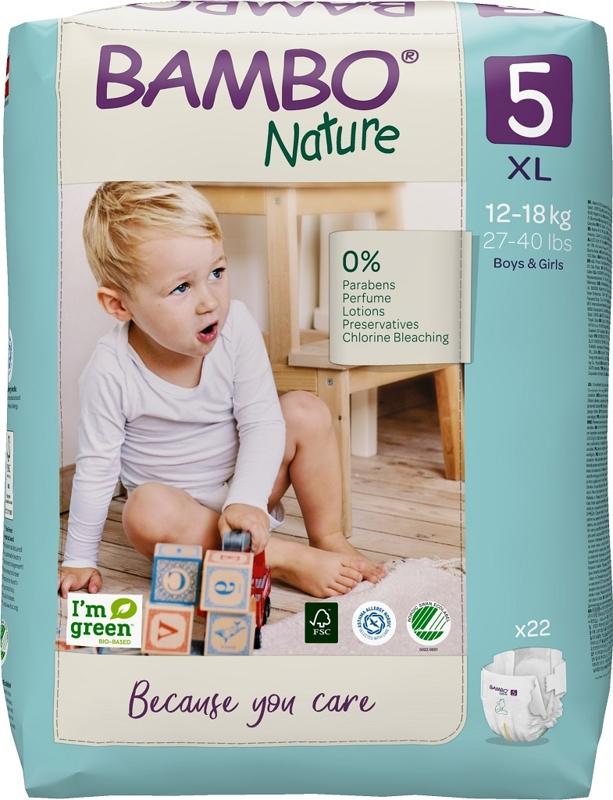 BAMBO Nature Plienky jednorázové 5, 22 ks, pre 12-18 kg,  V002734