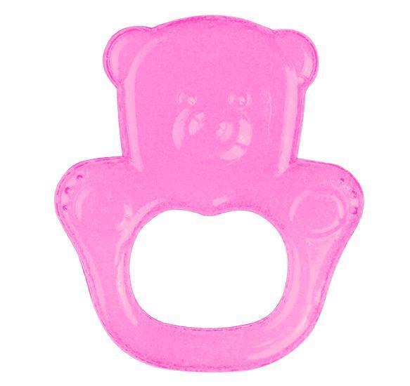 BABYONO Chladiaca hryzačka gélová medveď - ružová