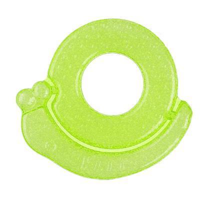 BABYONO Chladiaca hryzačka gélová slimák - zelená