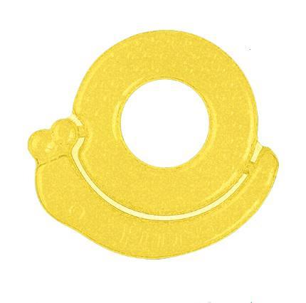 BABYONO Hryzačka chladiaca slimák - žltá