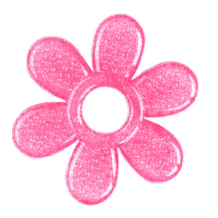 BABYONO Hryzačka s gélom Pink