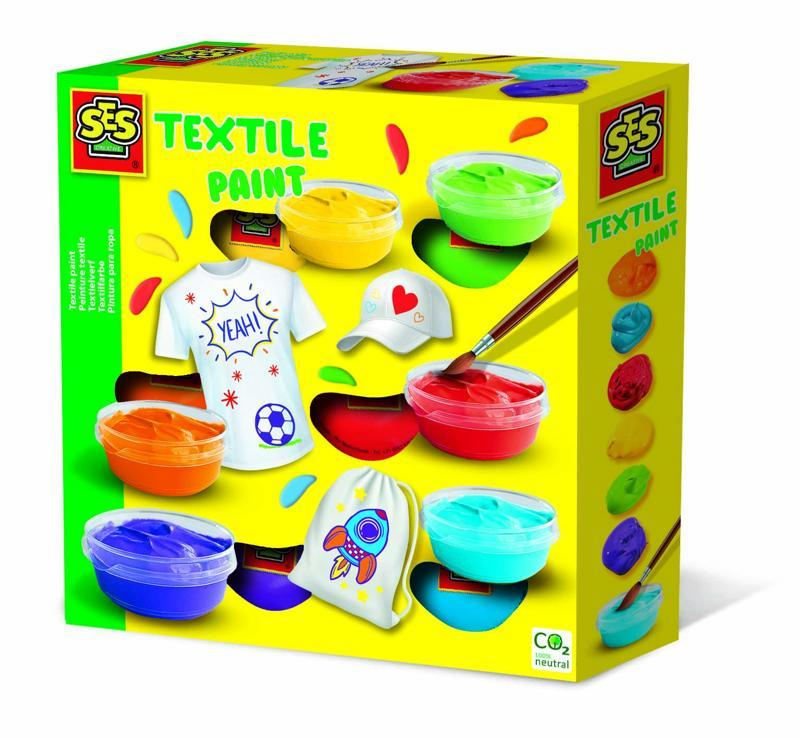 SES Farby na textil, 6 farieb