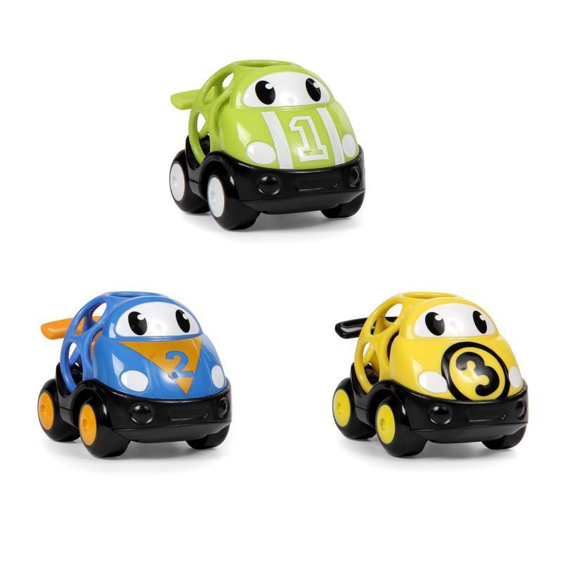 Hračka autíčka pretekárske Herbie, Tom a Mike Oball Go Grippers™ 3ks, 18m+