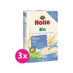 3x HOLLE Kaša nemliečna Bio ryžová 250 g,  V001091