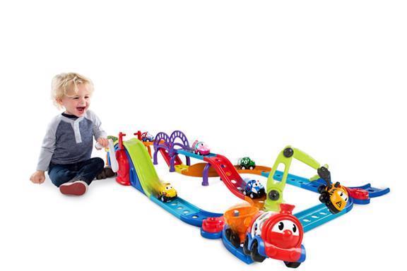 Hračka auto-vláčko dráha Zábavná premávka Go Grippers™ s vláčikom 18m+