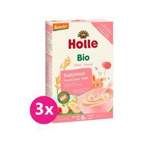 3x HOLLE Kaša nemliečna Bio babymüsli 250 g,  V001091