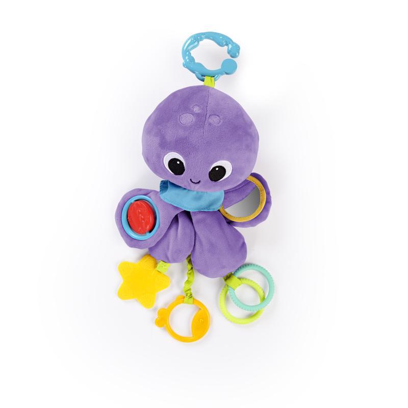 Hračka na C krúžku Twirly Whirly chobotnička 0m+,  Chobotnica