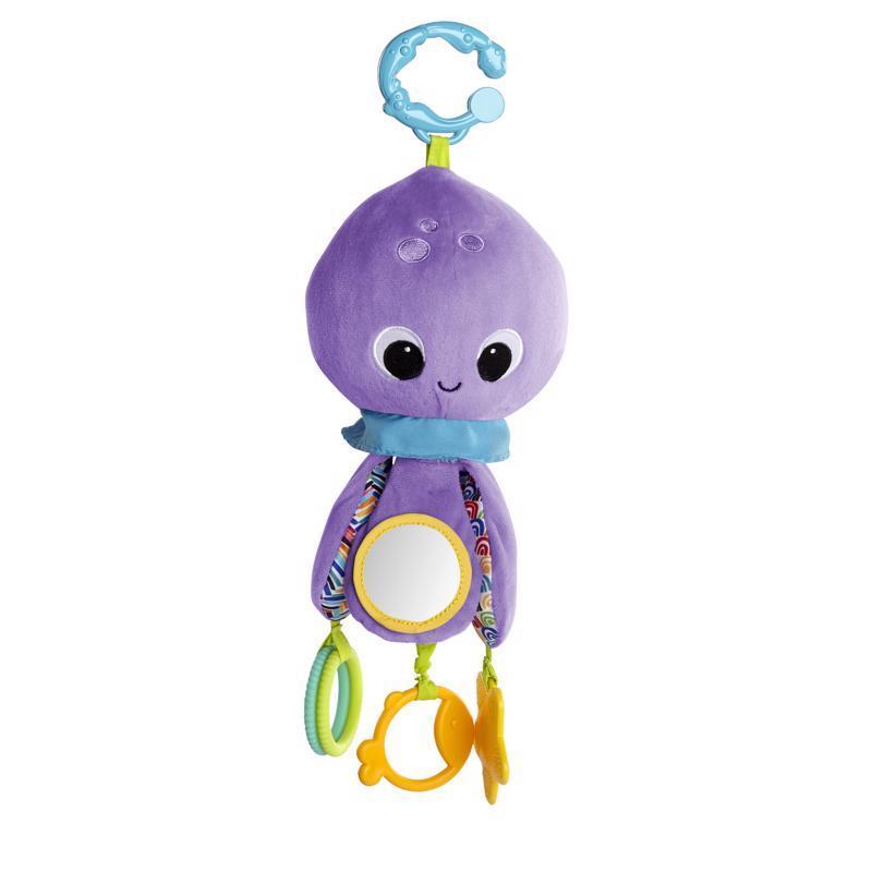 Hračka na C krúžku Twirly Whirly chobotnička 0m+
