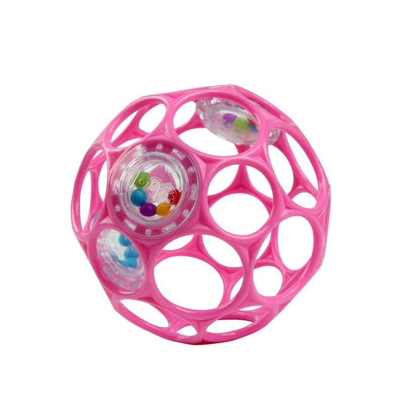 OBALL Hračka Oball RATTLE 10 cm dark pink 0m+,  V000185