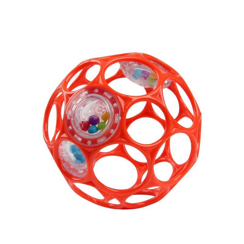 Hračka OBALL RATTLE 10cm orange 0m+,  oranžová