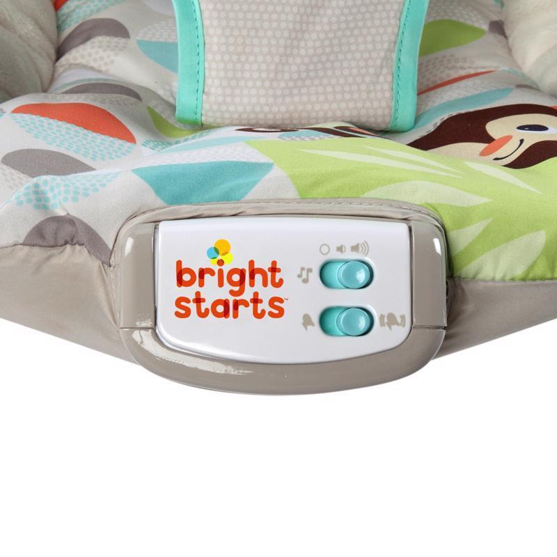 BRIGHT STARTS Lehátko vibrujúce s melódiou Happy Safari 0m+, do 9kg, 2019