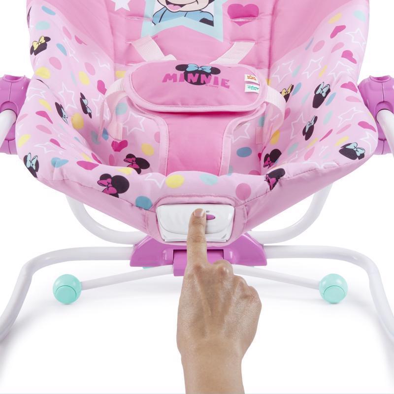 DISNEY BABY Húpatko vibrujúca Minnie Mouse Stars&Smiles Baby 0 m+, do 18 kg, 2019