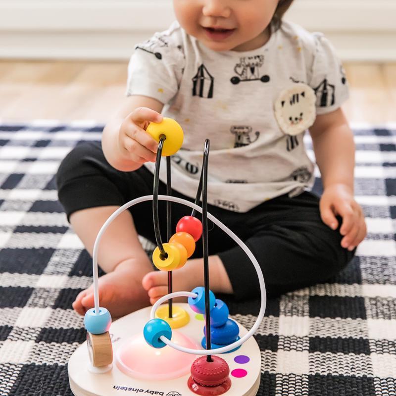BABY EINSTEIN Hračka drevená labyrint Color Mixer HAPE 12m+