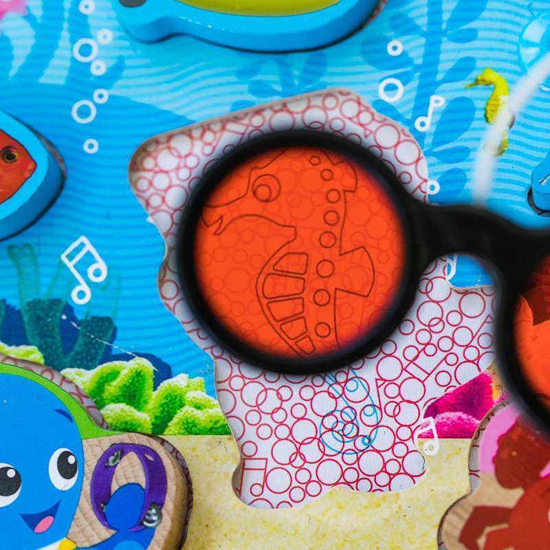 BABY EINSTEIN Hračka drevená puzzle Submarine Adventure HAPE 18m+