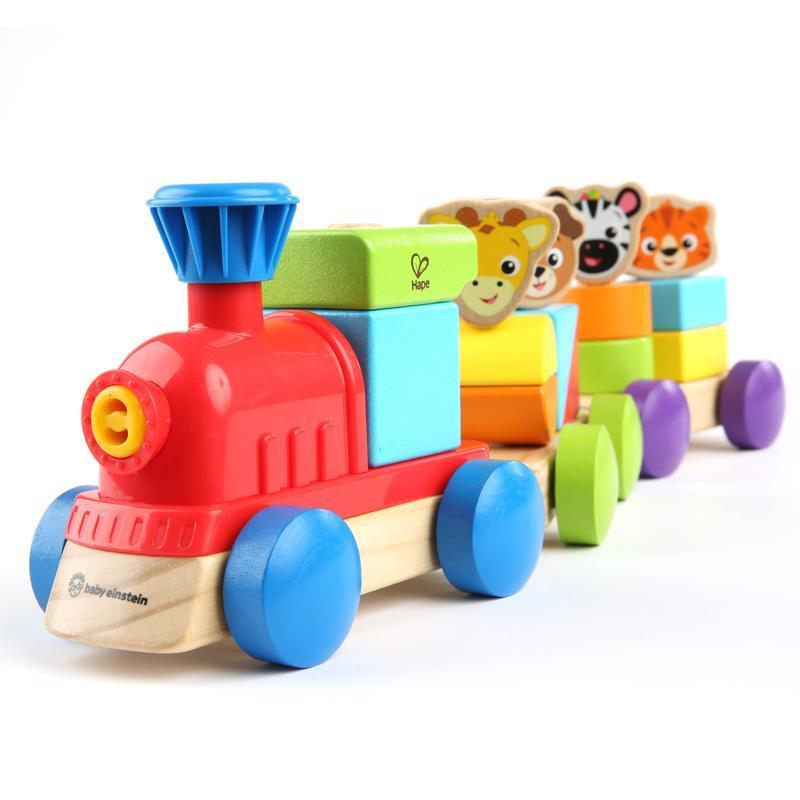 Hračka drevená Discovery Train HAPE 18m+