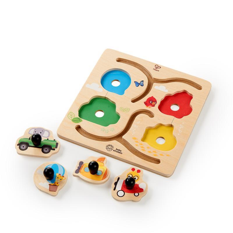 Hračka drevená puzzle Paths to Adventure HAPE 12m+