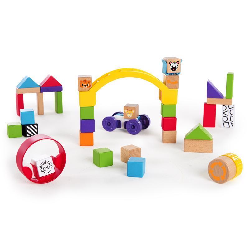 Hračka drevená stavebnica Curious Creations Kit HAPE 12m+