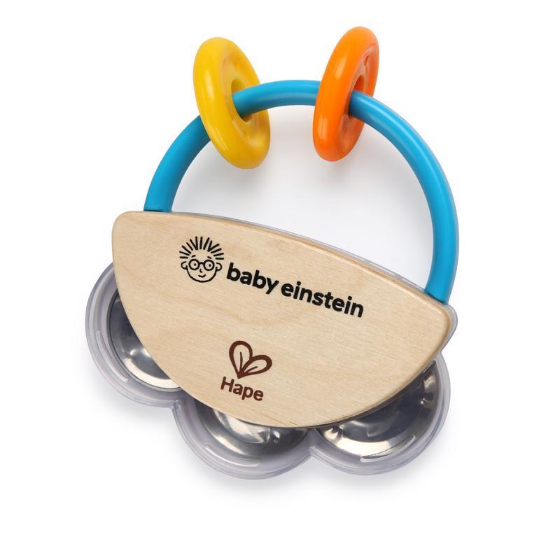 BABY EINSTEIN Hračka drevená hudobná tamburína HAPE 3m+,  V000192