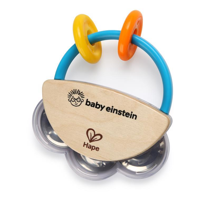 BABY EINSTEIN Hračka drevená hudobná tamburína HAPE 3m+