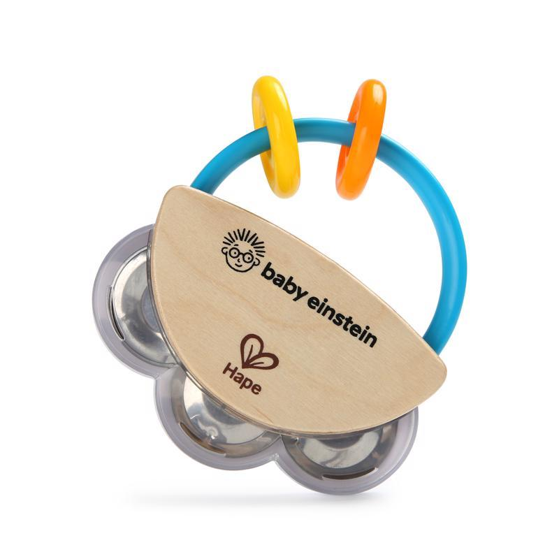 BABY EINSTEIN Drevená tamburína HAPE 3m+