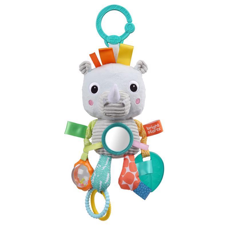Hračka na C krúžku Playful Pals nosorožec 0m+