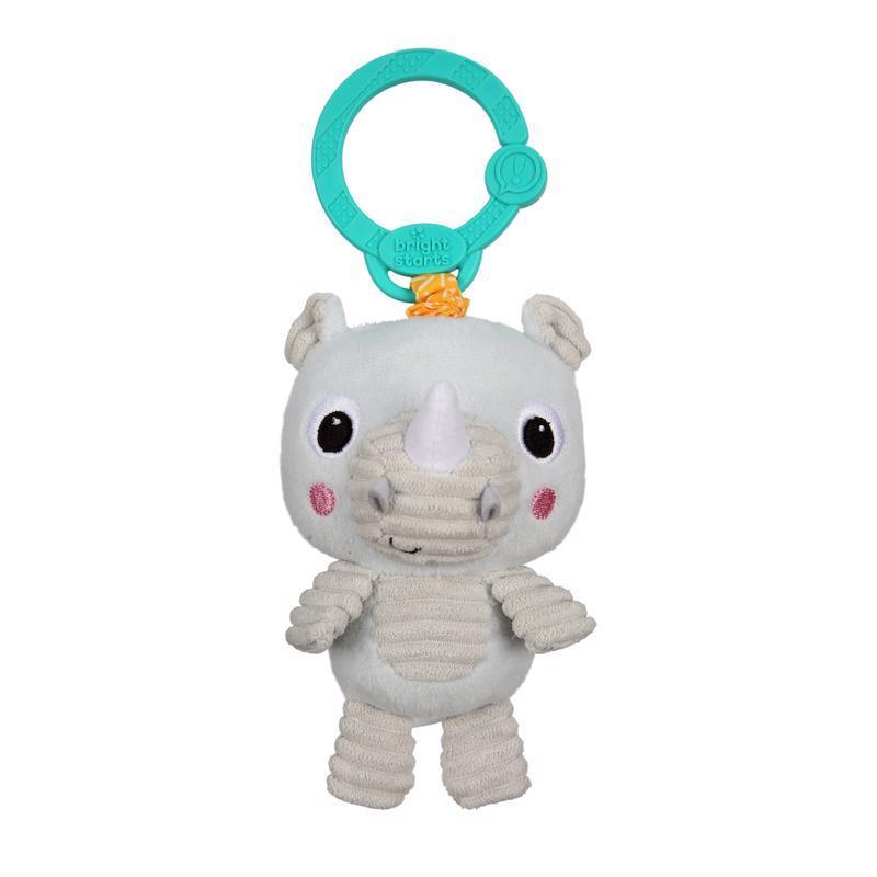 Hračka plyšová na C krúžku Take 'n Shake nosorožec 0m+