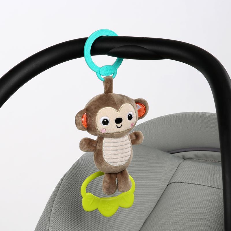 BRIGHT STARTS Hračka s melódiou na C krúžku Tug Tunes opica 0m+