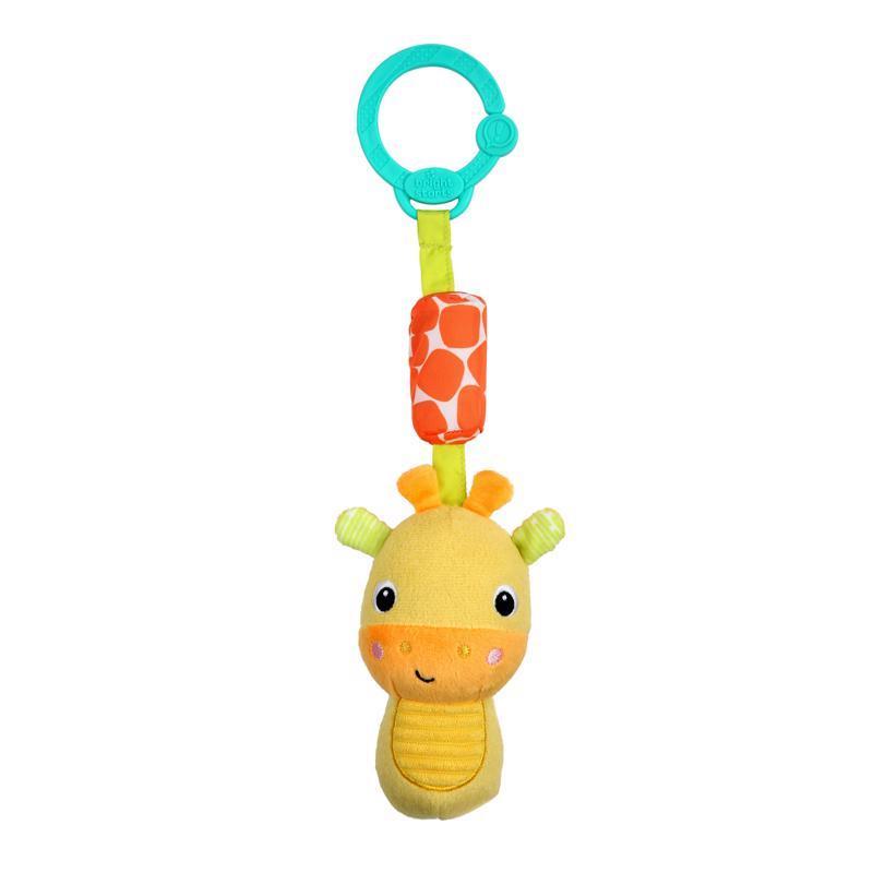 BRIGHT STARTS Hrkálka plyšová na C krúžku Chime Along Friends žirafa 0m+