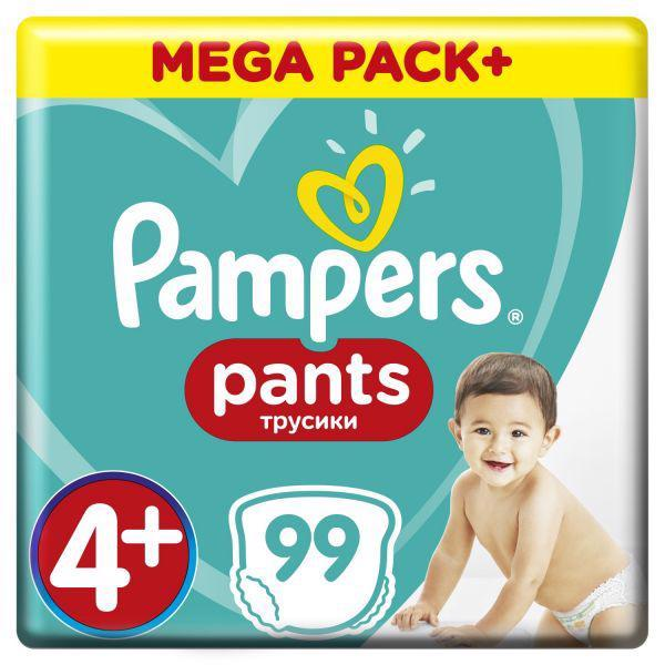 Nohavičky plienkové Active Babydry 4+ MAXI+ 9-15kg 99ks Mega Box Pampers
