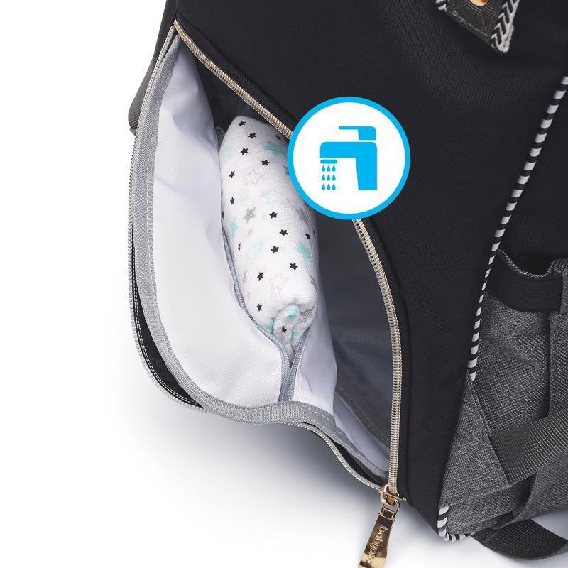 Taška prebaľovacia/batoh Oslo Style čierna