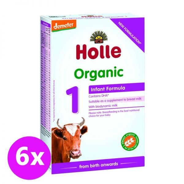 6 x HOLLE Bio Detská mliečna výživa 1 počiatočna