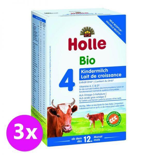 3x HOLLE Bio Detská mliečna výživa 4 pokračovacia