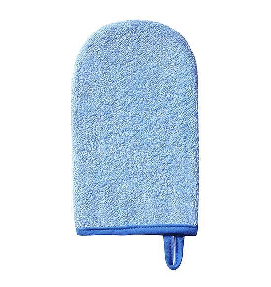 Handrička žinka na umývanie froté modrá