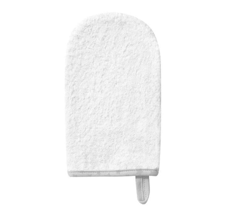 BABYONO Handrička na umývanie froté white