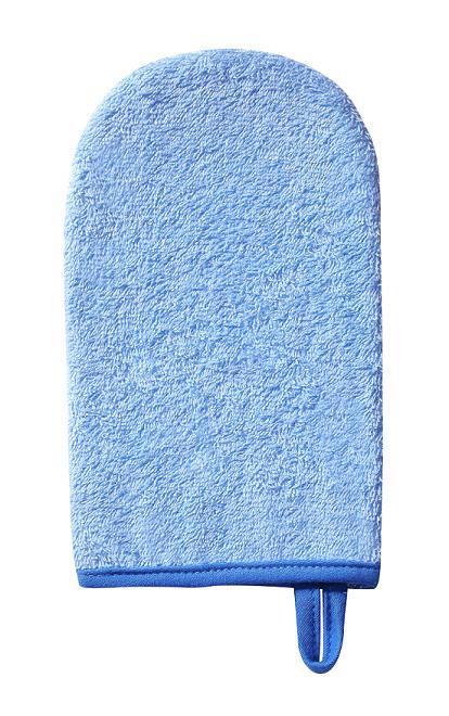 Handrička žinka na umývanie, froté modrá