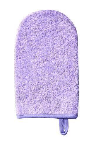 Handrička na umývanie, froté fialová