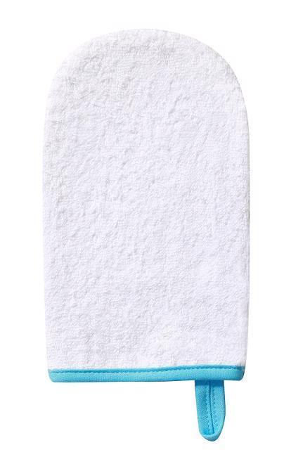 Handrička na umývanie, froté biela
