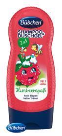 BÜBCHEN Kids šampón sprchový gél 2v1 Veselá malina 230ml